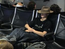 På flyplassen i San Diego en årle morgen i august